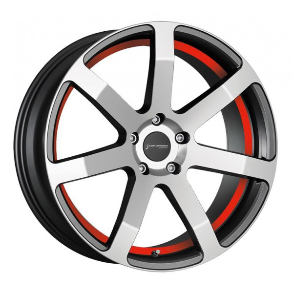 Диск литой R19 CorSpeed Challenge Higloss GunMetal Polished / Undercut Color Trim Rot 8,5x19 5x112