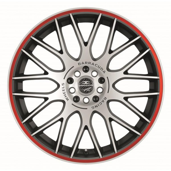 Диск литой R17 Barracuda Karizzma MattBlack Polished / Color Trim Rot 7,5x17 4x100