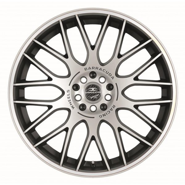 Диск литой R17 Barracuda Karizzma MattBlack Polished / Color Trim Weiss 7,5x17 4x100